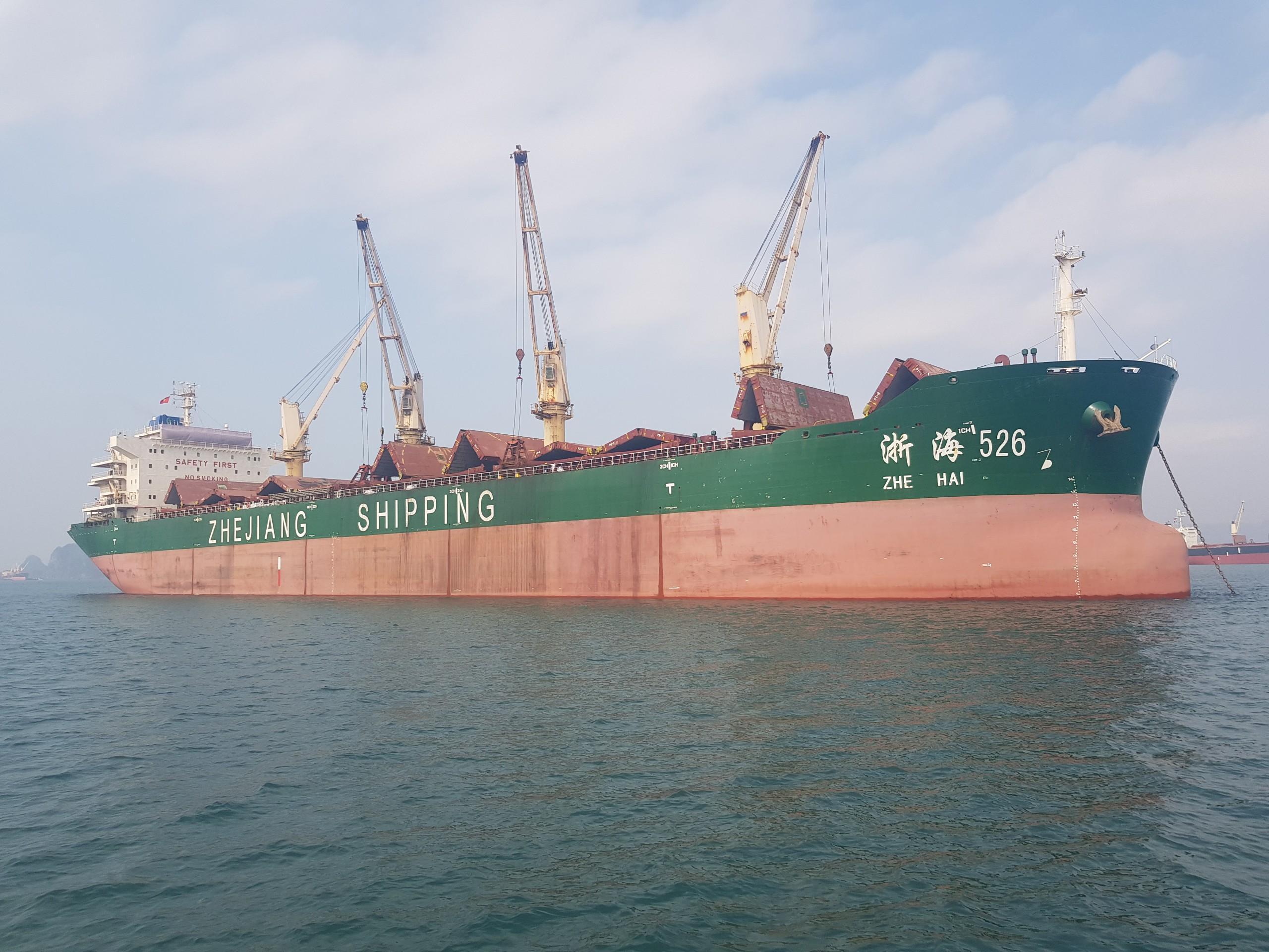 Xuất khẩu clinker tháng 02/2021 (tàu M/V ZHE HAI 526)